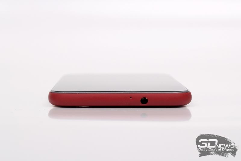 ZTE Z10, верхняя грань: миниджек (3,5 мм) для наушников/гарнитуры и микрофон