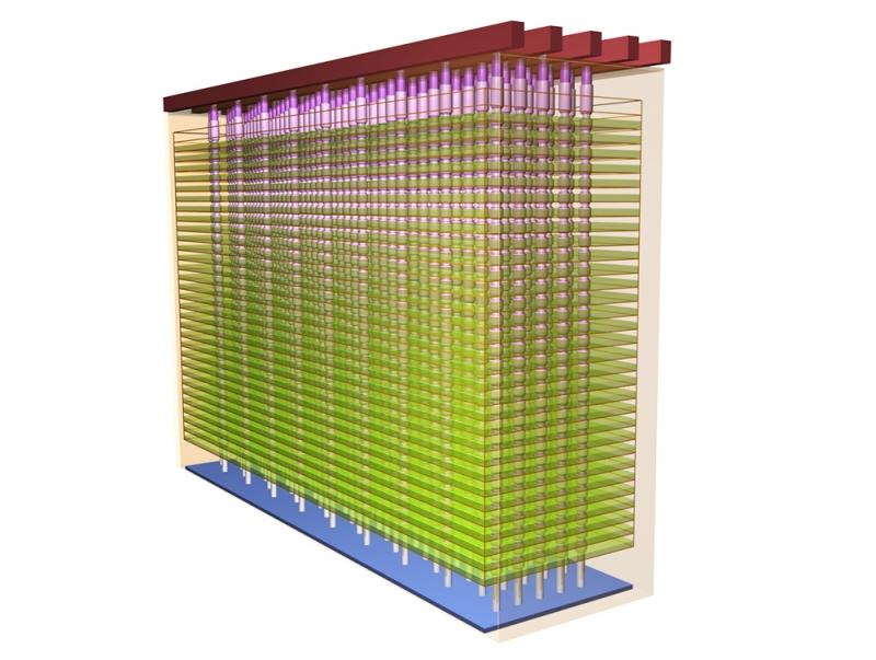 Внутренняя структура 3D NAND компаний Micron и Intel