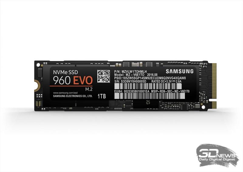 Samsung 960 EVO: высокая производительность, доступная цена