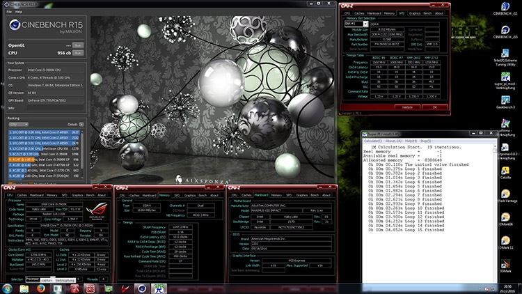 CPU Core i5-7600K Cinebench R15