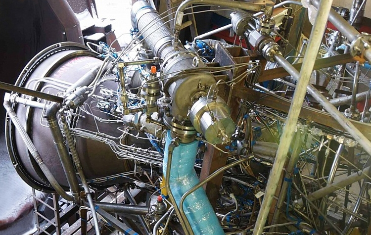 Испытания ракетного двигателя на метане