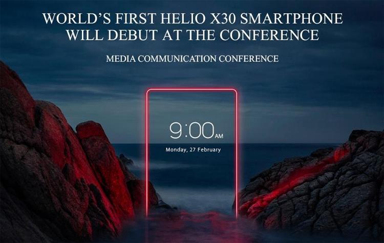 Vernee представит один из первых смартфонов на платформе Helio X30 на выставке MWC 2017