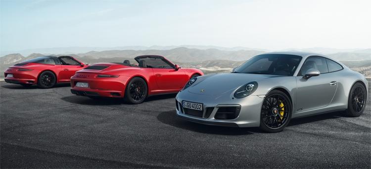 Новый спорткар Porsche 911 GTS выйдет в пяти версиях