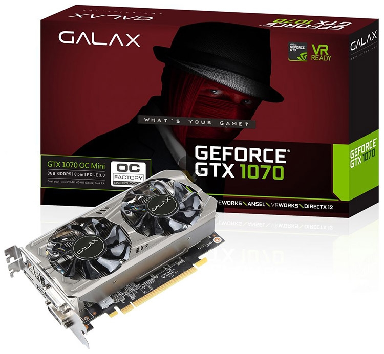 GALAX GeForce GTX 1070 8GB OC Mini