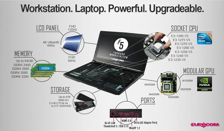 Ноутбук Eurocom Tornado F5