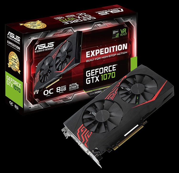 Видеокарта ASUS Expedition GeForce GTX 1070 OC