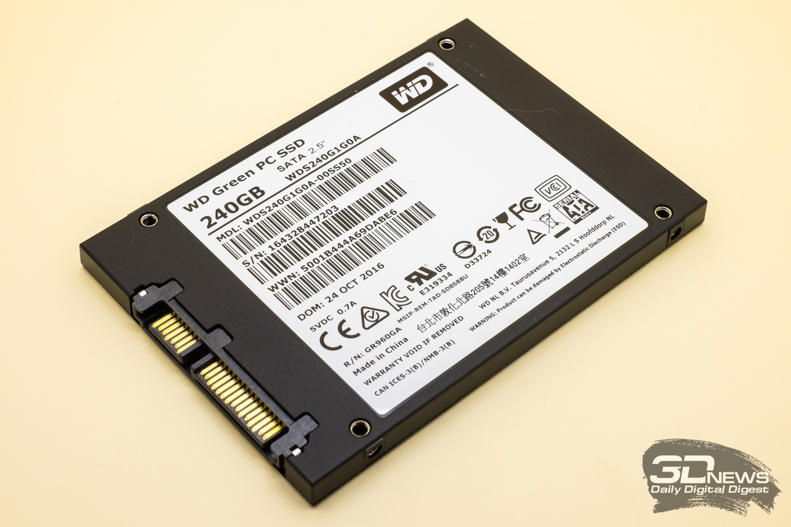 Обзор SSD-накопителя WD Green: начальный уровень / Накопители