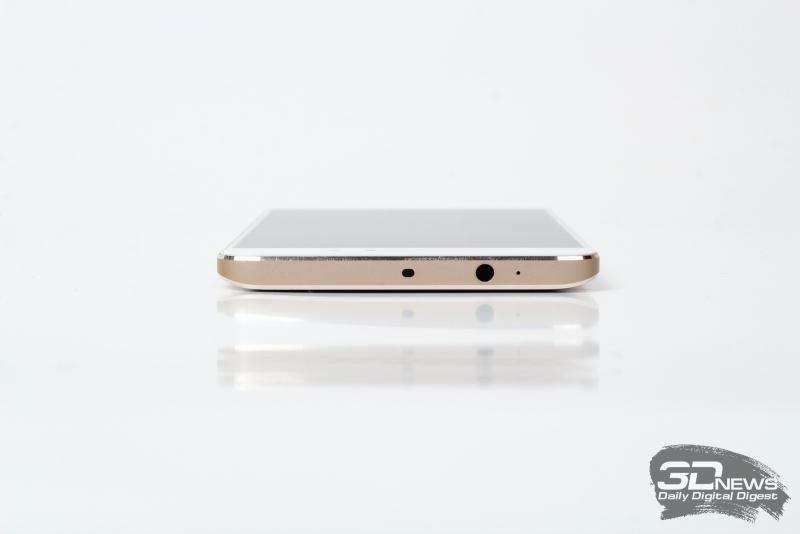 Xiaomi Mi5s Plus, верхняя грань: миниджек (3,5 мм) для наушников/гарнитуры и ИК-порт