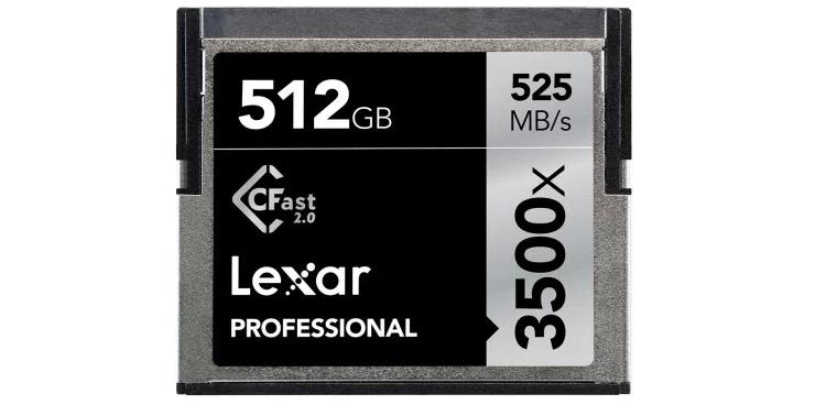 Карты памяти Lexar CFast 2.0 3500x