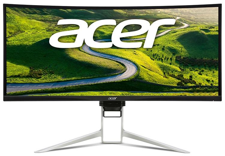 Изогнутый монитор Acer XR382CQK обладает разрешением 3840 × 1600