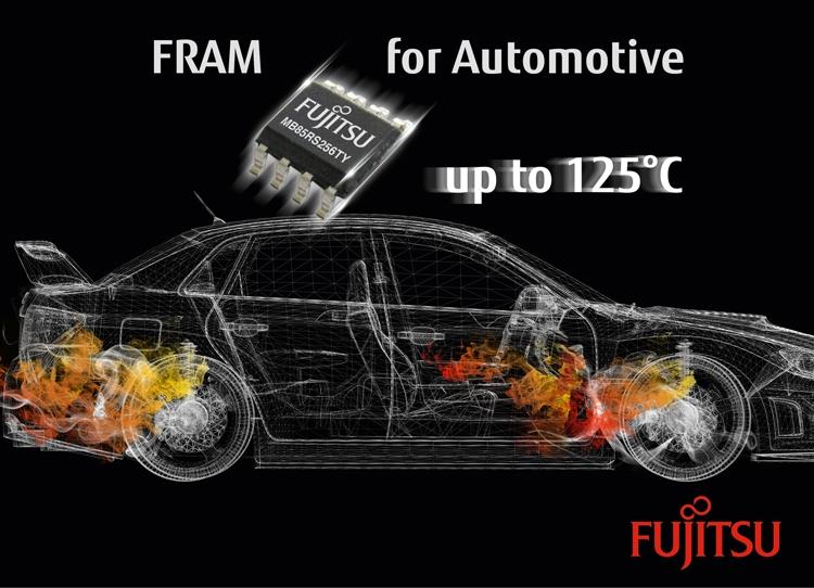 Fujitsu представила энергонезависимую память FRAM для автомобильной отрасли