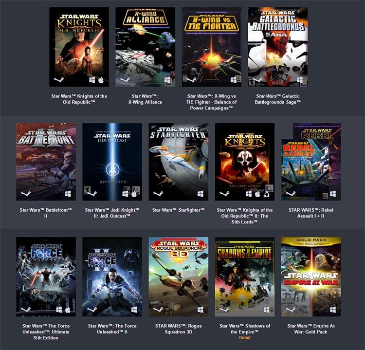 Игры по Звездным Войнам: Новая распродажа Humble Bundle посвящена играм во вселенной «Звёздных войн»