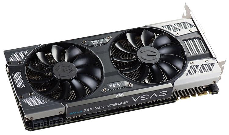 Кулер моделей EVGA GeForce GTX 1080 iCX включает пять тепловых трубок