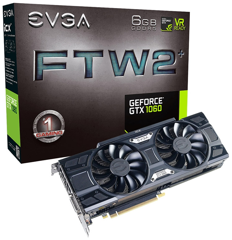 EVGA GeForce GTX 1060 FTW2+ Gaming iCX