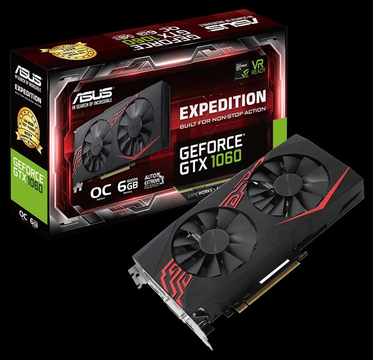 Видеокарта ASUS Expedition GeForce GTX 1060 OC 6GB