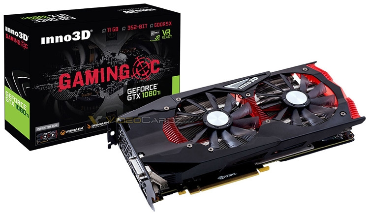 Видеокарта Inno3D GeForce GTX 1080 Gaming OC