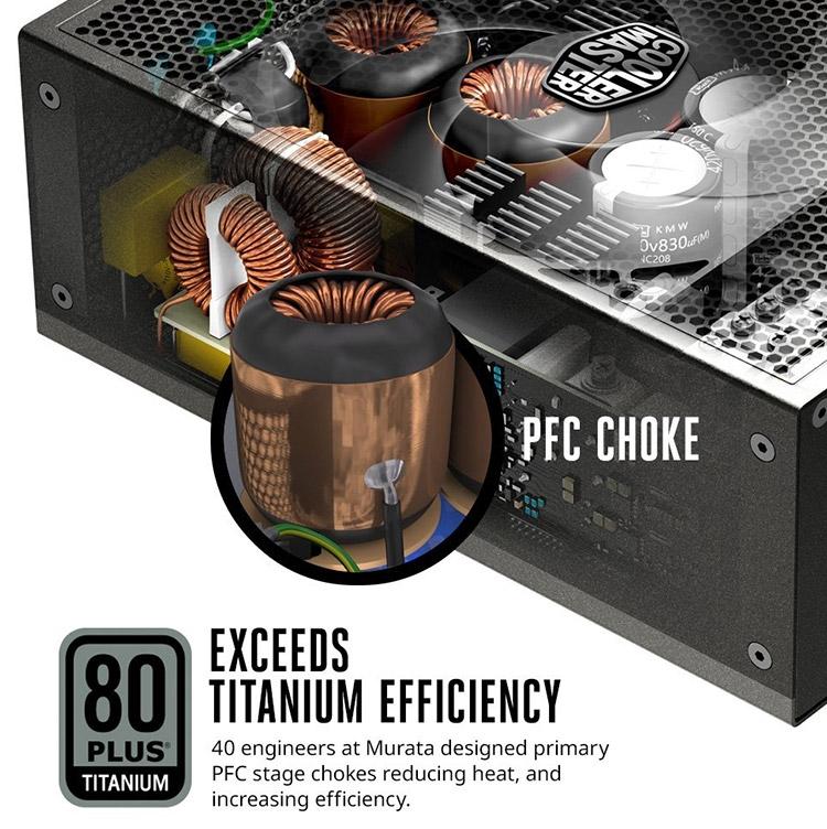 Часть компонентов БП рассчитана на нагрев до 150 °C