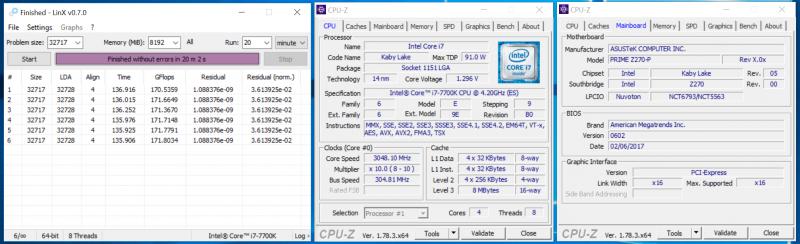 Разгон процессора по шине при помощи ASUS PRIME Z270-P