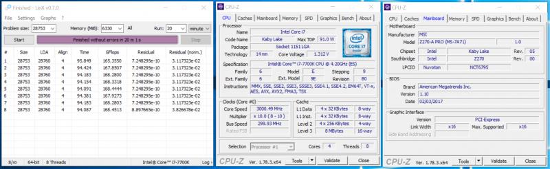 Разгон процессора по шине при помощи MSI Z270-A PRO