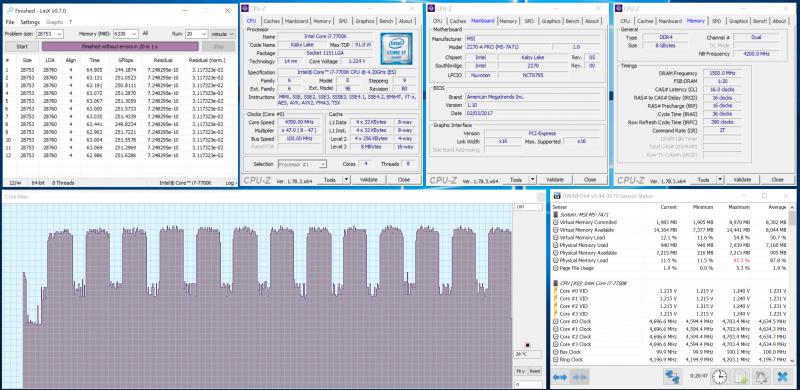 Разгон процессора по множителю при помощи MSI Z270-A PRO