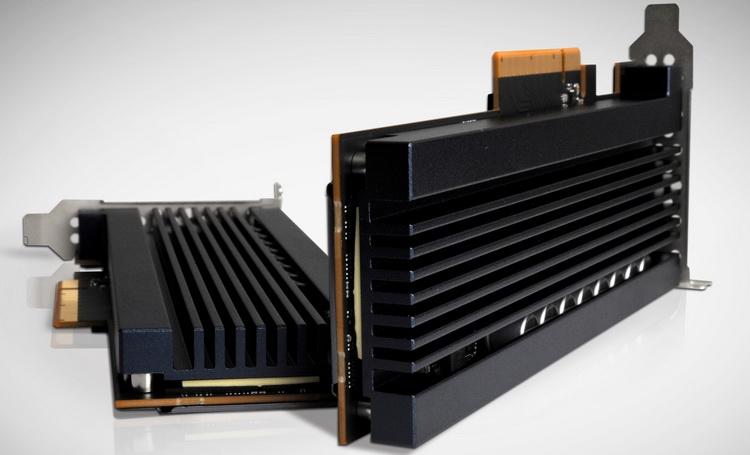 Так Z-SSD выглядит внешне. Судя по всему, накопитель нуждается в серьёзном охлаждении