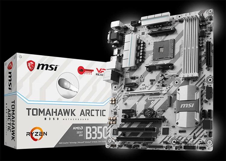 Материнская плата MSI B350 Tomahawk Arctic