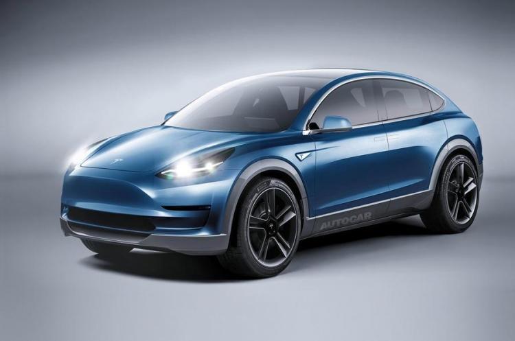 Рендер Tesla Model Y от Autocar