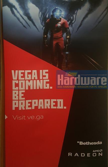 Рекламный плакат AMD Vega, посвящённый шутеру Prey