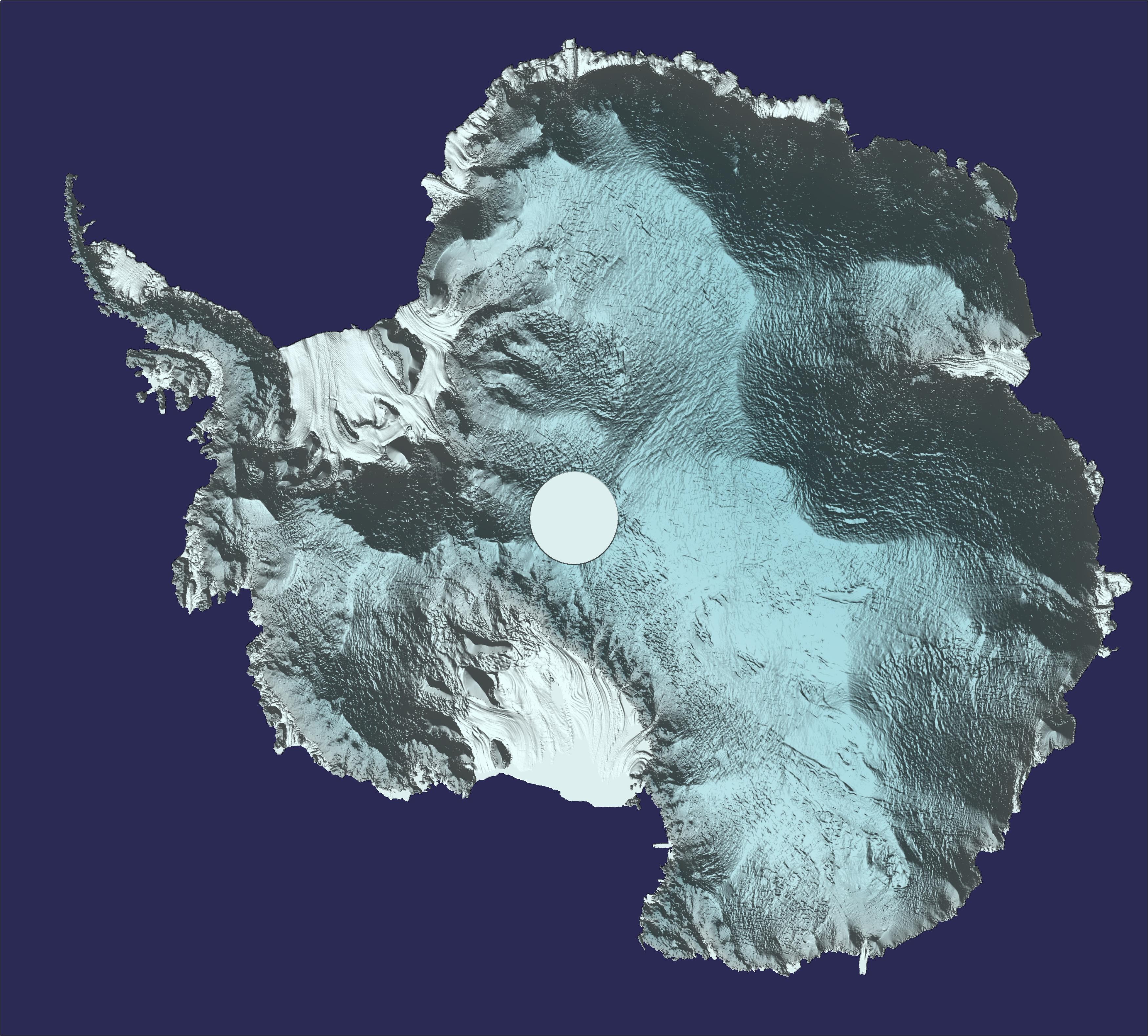 Создана детальная трёхмерная модель Антарктиды