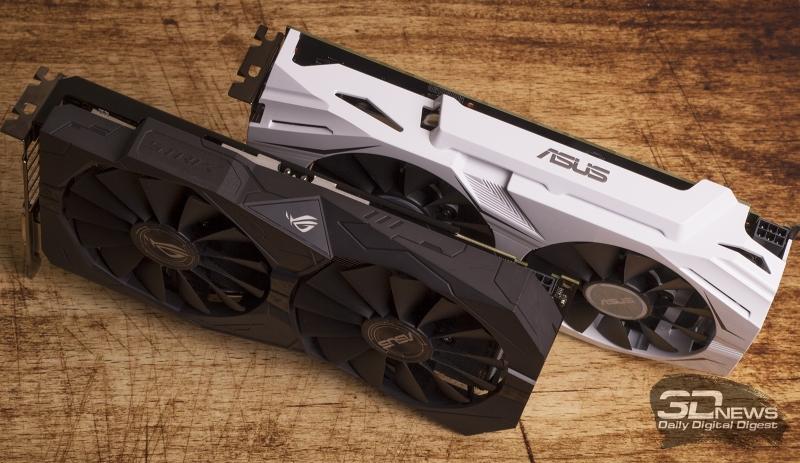 ASUS ROG Strix RX 470 OC 4 Гбайт и ASUS GeForce GTX 1060 Dual 3 Гбайт