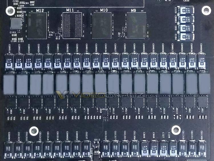 Стройные ряды цепей питания напоминают парад, смущает только отсутствующий «танк» — один из чипов GDDR5