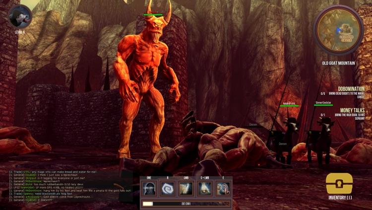 Goat MMO Simulator. Именно те козлы справа отправили героя в незнакомый ему мир