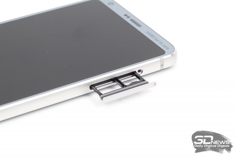 LG G6, слот для SIM-карт и/или карты памяти microSD