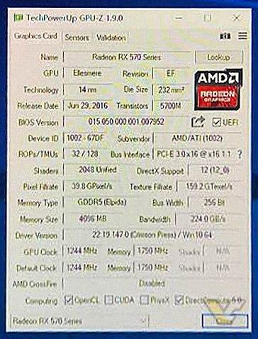 Radeon RX 570 GPU-Z