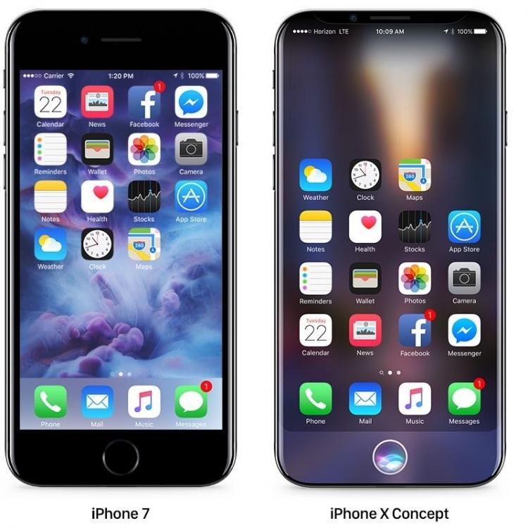 Apple заказала у Samsung 70 млн OLED-панелей для iPhone 8