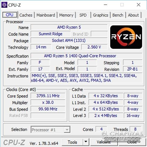 Процессор AMD Ryzen 5 1400 - разгон