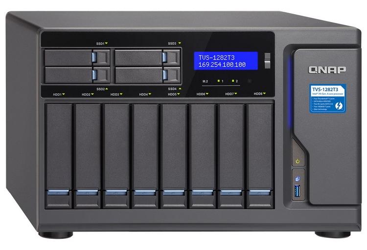 """Система хранения данных QNAP TVS-1282T3 имеет поддержку Thunderbolt 3"""""""
