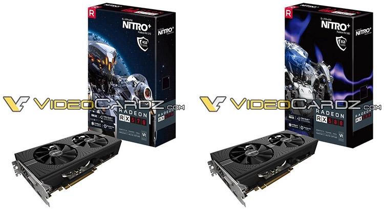 Sapphire RX 570 4GB Nitro+ и RX 580 8GB Nitro+ (справа)