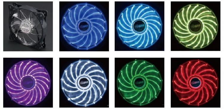 Доступные владельцам новых вентиляторов цвета и эффекты