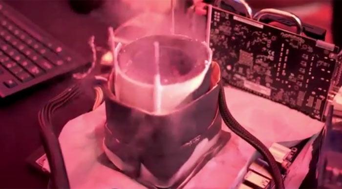 Так выглядит разгон AMD Ryzen с применением жидкого азота