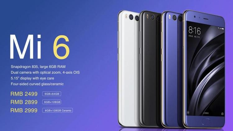 Смартфон Xiaomi Mi 6
