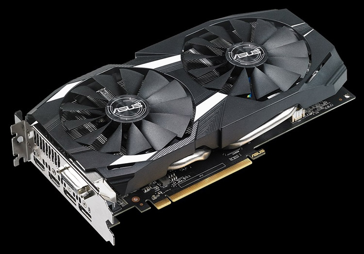 Модели ASUS Dual Radeon RX 580 используют тепловые трубки большого диаметра