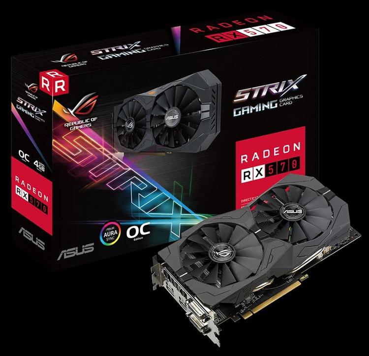 Видеокарта ASUS ROG Strix Radeon RX 570 OC