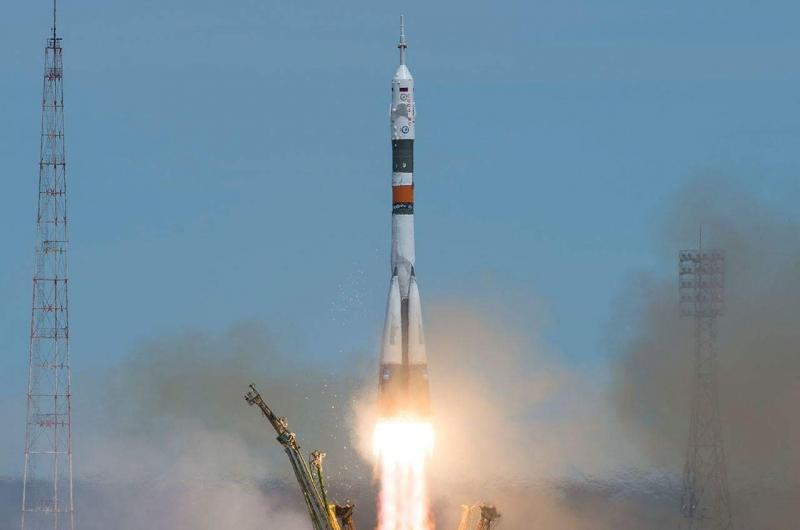 Старт «Союза МС-04» состоялся точно в назначенное время. Выведение прошло штатно