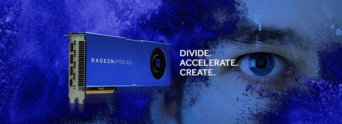 AMD представила новую версию ускорителя Radeon Pro Duo
