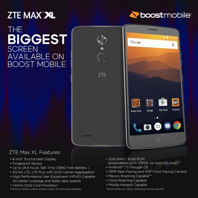 Пара мобильных новинок ZTE: флагман Axon 7s и бюджетный фаблет Blade Max XL