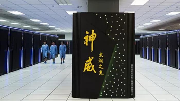 Зал, в котором расположен суперкомпьютер Sunway TaihuLight
