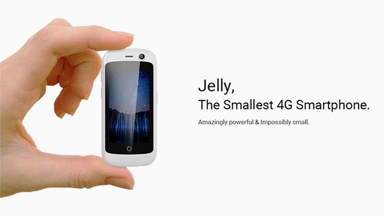 Uniherz Jelly — самый маленький смартфон в мире