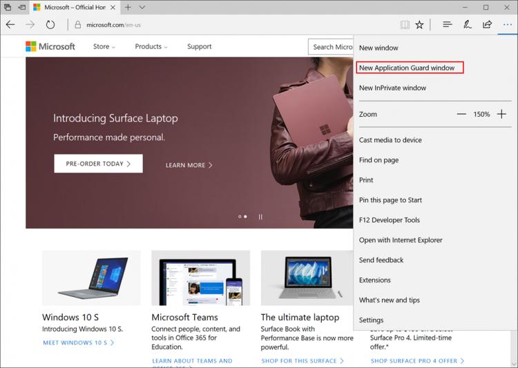 sm.WDAG 2.750 - Microsoft тестирует возможность запуска браузера Edge в виртуальной машине