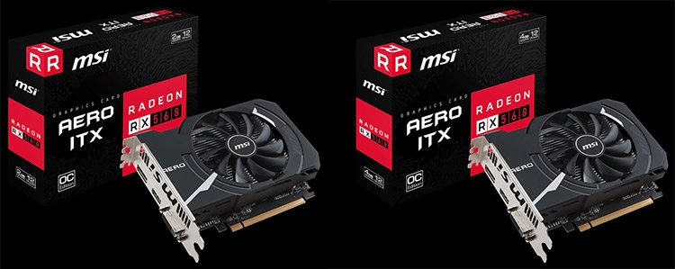 MSI Radeon RX 560 Aero ITX 2G OC и Radeon RX 560 Aero ITX 4G OC
